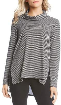 Karen Kane Striped Cowl-Neck Sweater