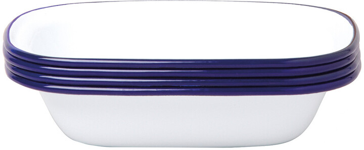 Falcon Pie Dishes - Original White with Blue rim