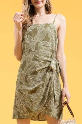 Blu Pepper Leaf Print Dress