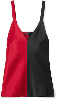Haider Ackermann Two-tone Satin Camisole - Red