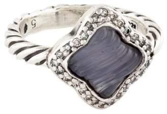 David Yurman Chalcedony & Diamond Quatrefoil Ring