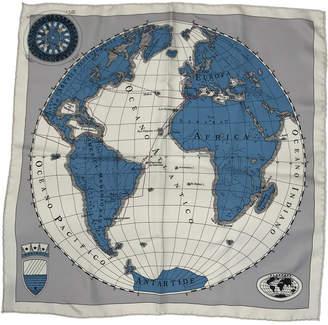 Heliopole (エリオポール) - エリオポール WORLD MAP SILKスカーフ 53X53