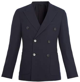 Prada - Double Breasted Wool And Cashmere Blend Blazer - Mens - Navy
