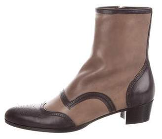 Miu Miu Pointed-Toe Ankle Boots