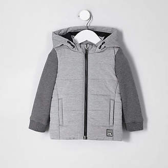 River Island Mini boys grey jersey sleeve vest jacket