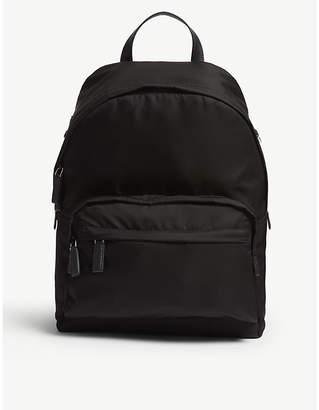 Prada Black Metal Logo Backpack