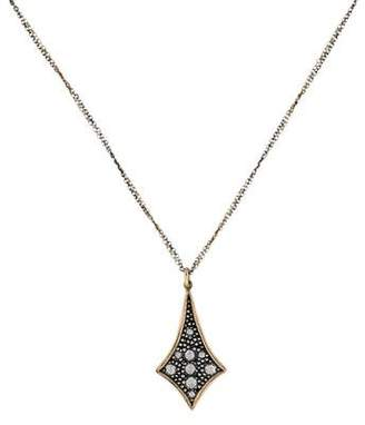 Moritz Glik 18K Sterling Diamond Pendant Necklace