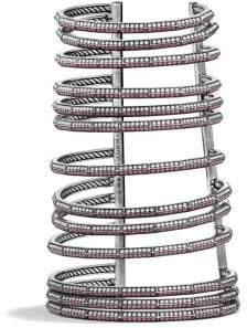 David Yurman Davidyurman Stax Multi-Row Pave Bracelet With Ruby And Diamonds,