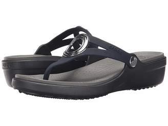 Crocs Sanrah Beveled Circle Wedge Flip Women's Wedge Shoes