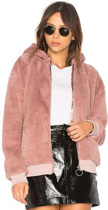 MinkPink Fluffy Faux Fur Hooded Jacket