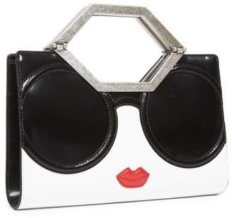 Alice + Olivia Tyler Staceface Cut Out Clutch