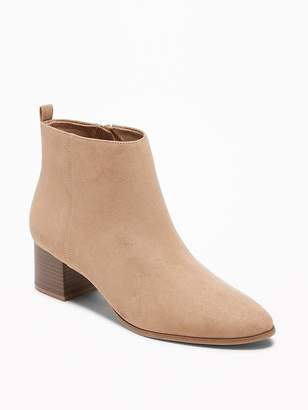 Old Navy Faux-Suede Block-Heel Booties for Women