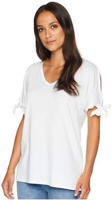 NYDJ Tie Sleeve Tee Women's T Shirt