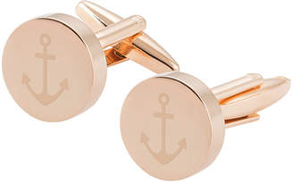 Cathy's Concepts Cathys Concepts Anchor Round Rose Gold Cufflinks