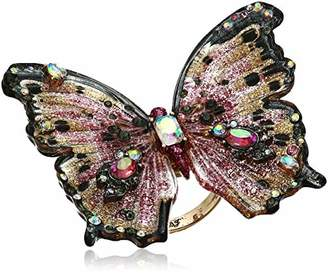 Betsey Johnson GBG) & Gold Butterfly Ring