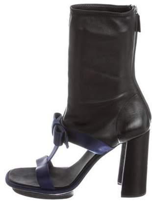Prada Satin Mid-Calf Sandals Blue Satin Mid-Calf Sandals