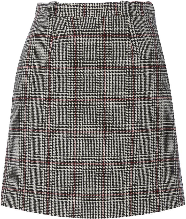 CarvenCarven Plaid Mini Skirt