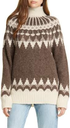 Frame Fair Isle Alpaca & Wool Blend Sweater
