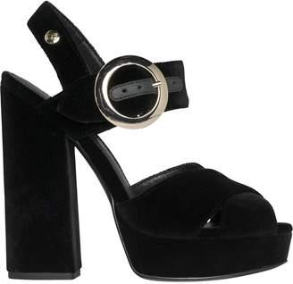 Tommy Hilfiger Velvet Platform Sandal