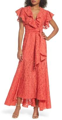 C/Meo Collective More To Give Ruffle Lace Gown