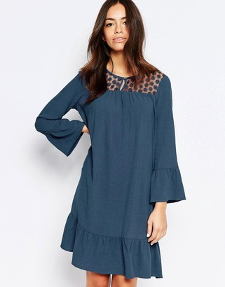 Esprit Lace Yoke Shift Dress $73 thestylecure.com
