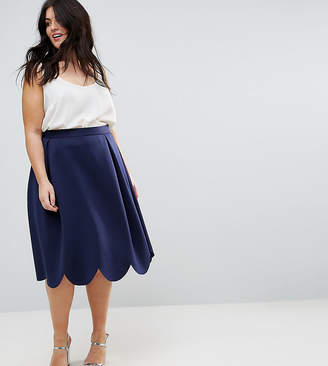 Asos Prom Skirt with Scallop Hem