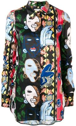 Carven illustration print shirt