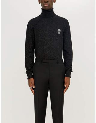 Alexander McQueen Skull-branded wool-blend jumper