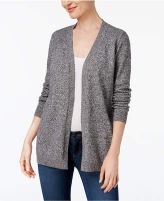 Karen Scott Cotton Marled Cardigan Sweater