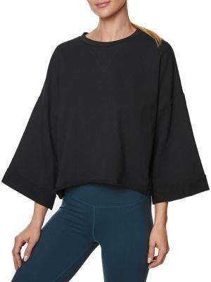 Betsey Johnson Cropped Boxy Sweatshirt