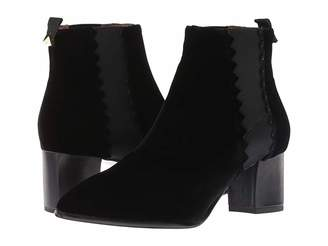 Emporio Armani Velvet Pull-On Ankle Boot