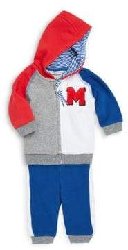 Little Marc Jacobs Baby Boy's Two-Piece Colorblocked Cotton Jacket and Jogger Pants Set