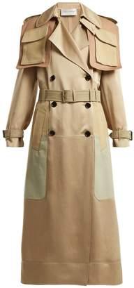 Valentino Multi-pocket satin trench coat