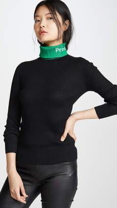 Proenza Schouler PSWL Long Sleeve Knit Turtleneck