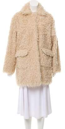 Opening Ceremony Faux Fur Collared Jacket