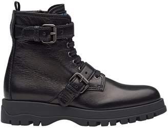 Prada Leather Biker Boots