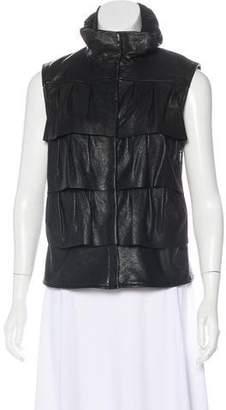Diane von Furstenberg Zip-Up Leather Vest
