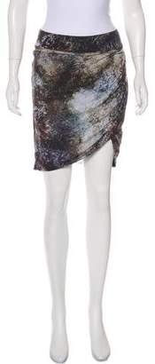 Helmut Lang Printed Knee-Length Skirt
