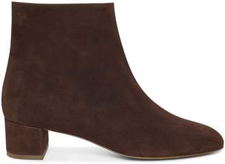 Mansur Gavriel Suede 40mm Unlined Ankle Boot - Chocolate