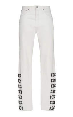 Olivier Theyskens 5-Pocket Tapered Leg Jeans