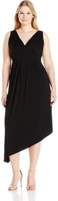 Karen Kane Women's Plus Size Asymmetric Maxi Dress