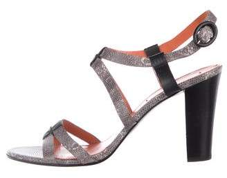 Via Spiga Embossed Strap Sandals