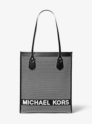 Michael Kors Bay Large Woven Canvas Tote Bag