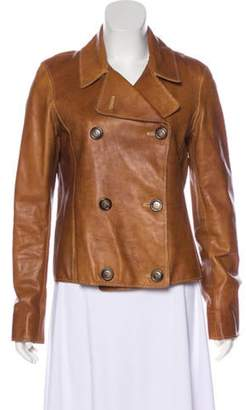 Nigel Preston Leather Double-Breasted Jacket Brown Nigel Preston Leather Double-Breasted Jacket