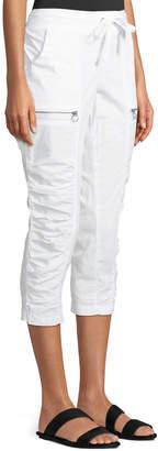 XCVI Kahiwa Ruched-Side Cropped Cargo Pants