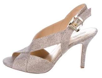 MICHAEL Michael Kors Metallic Ankle Strap Sandals