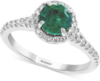 Effy Gemstone Bridal by Emerald (1 ct. t.w.) & Diamond (1/3 ct. t.w.) Ring in 18k White Gold