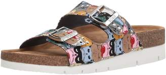 Skechers BOBS Women's Scratch Party Double Strap Sanal Slide Sandal