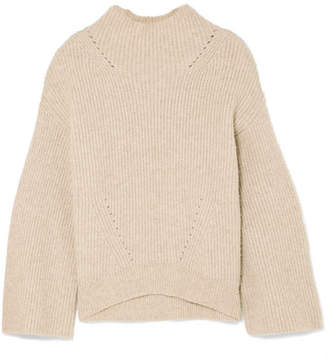Nili Lotan Ronnie Ribbed Cashmere Sweater - Beige