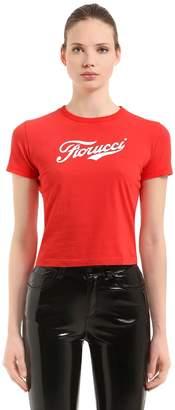 Fiorucci Soda Logo Crop Jersey T-shirt